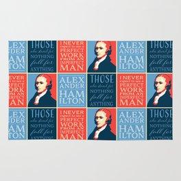 Alexander Hamilton Quotes Rug