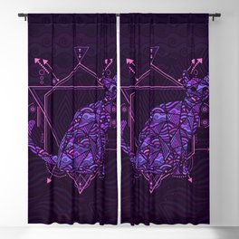 Future Space Cat Blackout Curtain