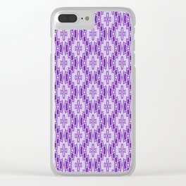 Diamond Pattern in Purple and Lavender Clear iPhone Case