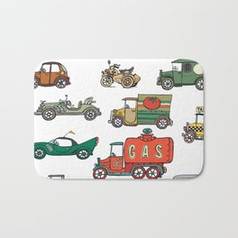 old cars Bath Mat
