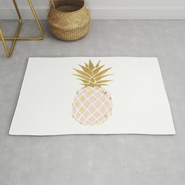 pink & gold pineapple Rug