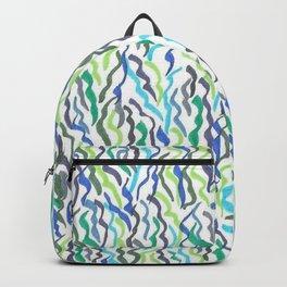 Blue and Green Seaweed Backpack