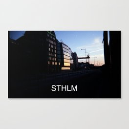 STHLM (with text) Canvas Print