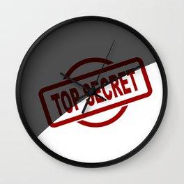 Top Secret Half Covered Ink Stamp Wall Clock
