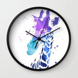 Giraffe Portrait I Wall Clock