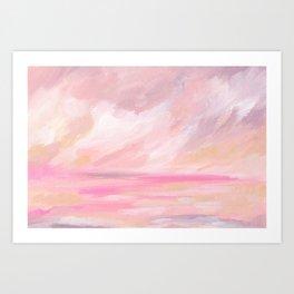 Pink Skies - Tropical Sunset Seascape Art Print