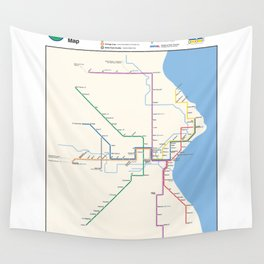 Milwaukee Transit System Map Wall Tapestry