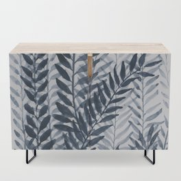 Blue Leaves Watercolor Credenza