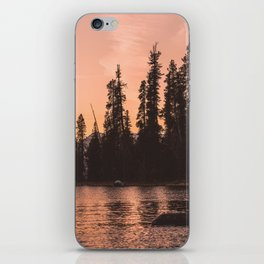 Forest Island at the Lake - Nature Photography iPhone Skin