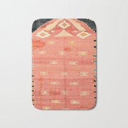 South West Anatolia  Antique Turkish Niche Kilim Print Bath Mat