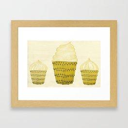 Banana Cupcakes  Framed Art Print