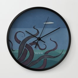 Jules Verne's Twenty Thousand Leagues Under the Sea - Minimalist literary design, literary gift Wall Clock