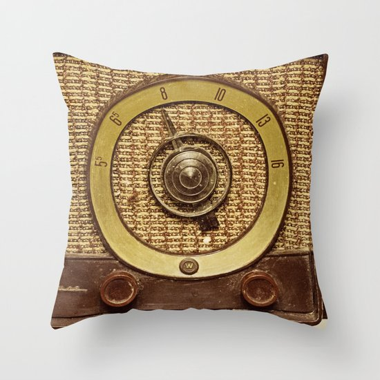 "Don't touch that Dial - ""ANALOG zine"" Throw Pillow"