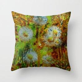 Concept abstract : Dandelion / Pusteblume Throw Pillow