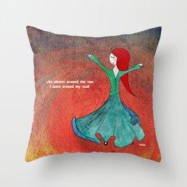 Dervish sufi dance Throw Pillow