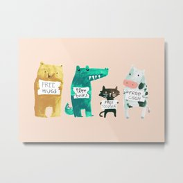 Animal idioms - its a free world Metal Print