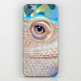 Dragon Star, Bearded Dragon Lizard Art iPhone Skin