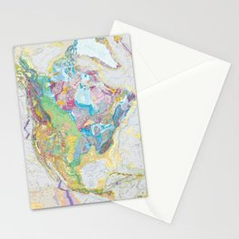 USGS Geological Map of North America Stationery Cards