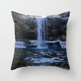Cloudland Canyon Waterfall Throw Pillow