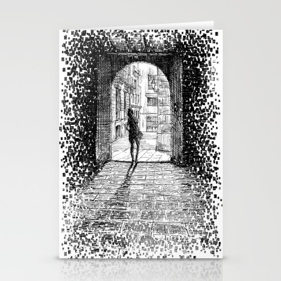 Light - Black ink Stationery Cards