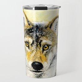 Totem Grey wolf Travel Mug