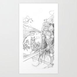 Monkey parade detail Art Print