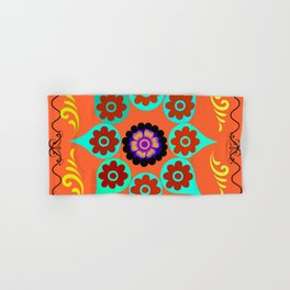 Talavera Tile Orange Hand & Bath Towel
