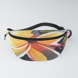 Kauai Rainbow Plumeria Fanny Pack