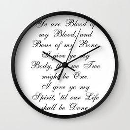 Outlander Wedding Vows Wall Clock