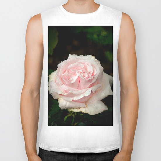 Rose twins with droplets Biker Tank