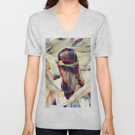 In the Arms of an Angel Unisex V-Neck
