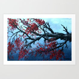 Japanese Cherry Blossum flowers Art Print