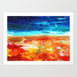 Sand Water Sea Art Print