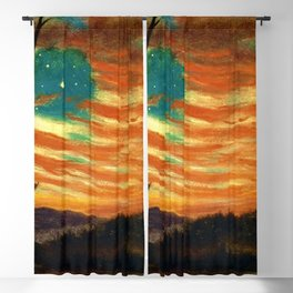 Our Banner in the Sky by Frederic Irwin Church Blackout Curtain