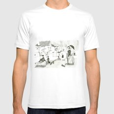 Seurat Sunday Afternoon Mens Fitted Tee MEDIUM White