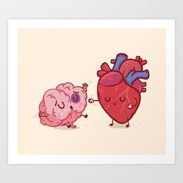 Reason vs Love Art Print