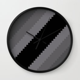 Pixel Old Hollywood Dremas - Monochrome Grey Wall Clock