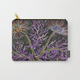 psychedelic blooming flowers Carry-All Pouch