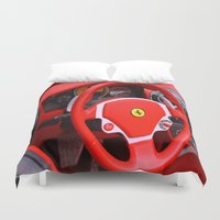 ferrari Duvet Covers featuring Ferrari Fizz by Scattered_Stars
