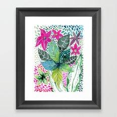Leafy Tropical Framed Art Print