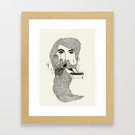 His Beard is Alive Framed Art Print