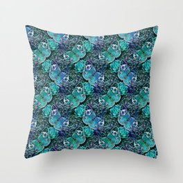 Butterflies In Blue Throw Pillow