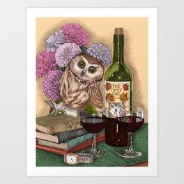 The Tipsy Owl Art Print