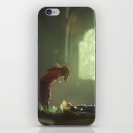 Flowers Blooming in the Church iPhone Skin