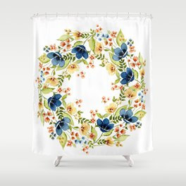 Fall into Blue Shower Curtain