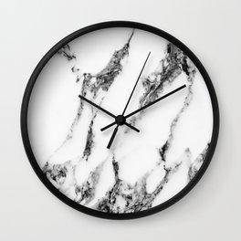 white marble III Wall Clock