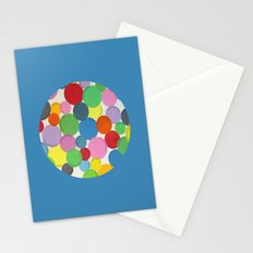 Word Bubbles Blue Stationery Cards