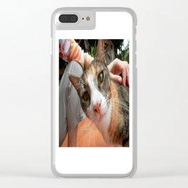 Liza the cat Clear iPhone Case