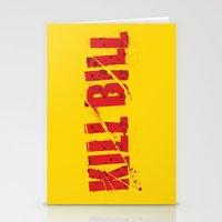 kill bill Stationery Cards featuring Kill Bill by Osman SARGIN
