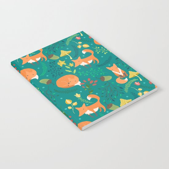 Foxes pattern Notebook